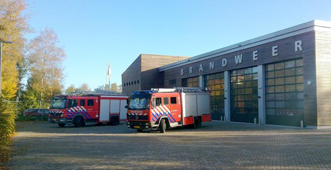 De brandweerkazerne van Eemnes aan de Noordersingel